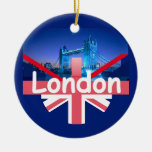 LONDON Orament Double-Sided Ceramic Round Christmas Ornament