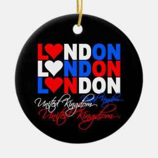 London ornamnet Double-Sided ceramic round christmas ornament