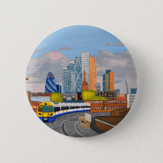 London Overland train- Hoxton station Pinback Button