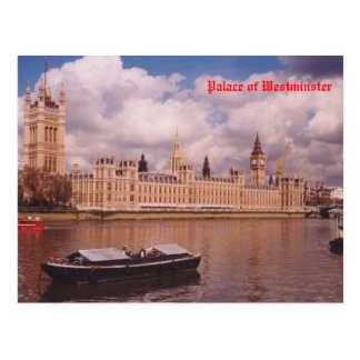 London - Palace of Westminster Postcard