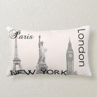 London, Paris, New York Pillow