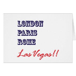 London Paris Rome, Las Vegas Card