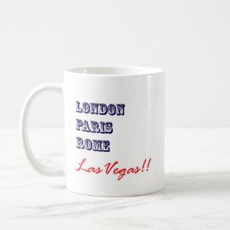London Paris Rome, Las Vegas Classic White Coffee Mug