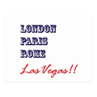 London Paris Rome, Las Vegas Postcard
