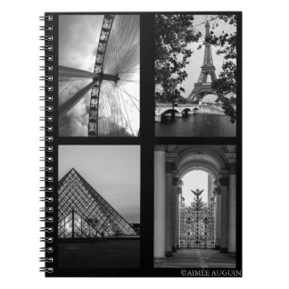 London, Paris, St. Petersburg Notebook - B&W
