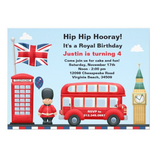 Personalized party bus invitations custominvitations4u london party invitation stopboris Choice Image
