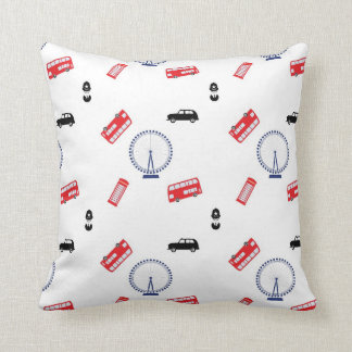 London Pattern Throw Pillow