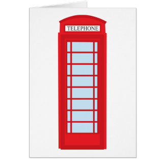 London phone booth card