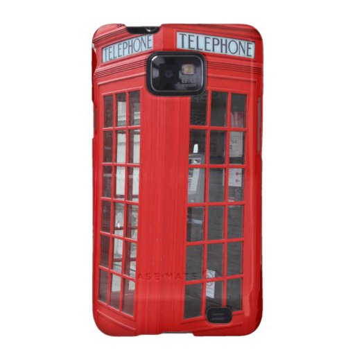 London Phone Booth iPhone Cases Samsung Galaxy S2 Cases