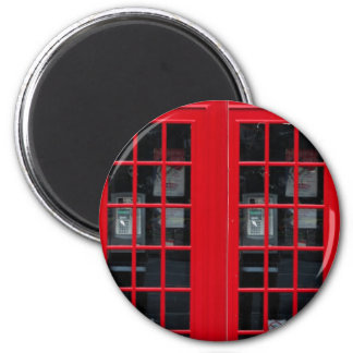 LONDON PHONE BOOTH 2 INCH ROUND MAGNET