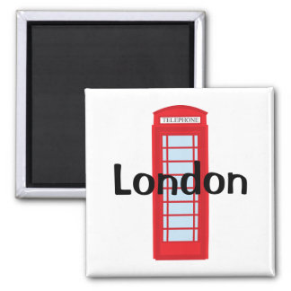 London phone booth 2 inch square magnet