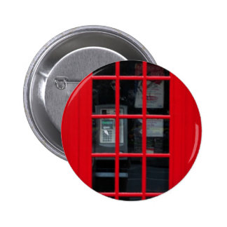 LONDON PHONE BOOTH PINBACK BUTTON