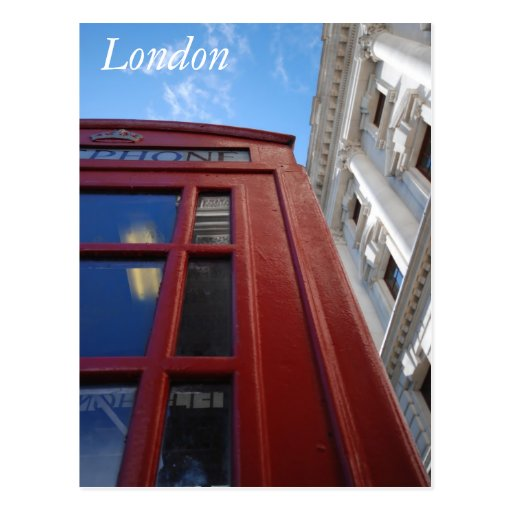 London Phone booth Postcard