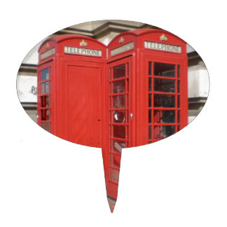 London Phone Booth Products Cake Toppers