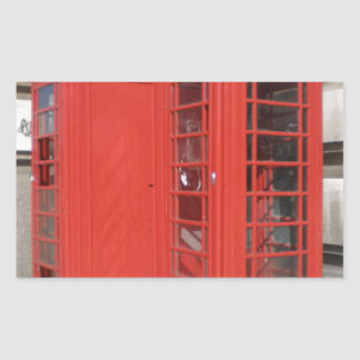 London Phone Booth Products Rectangular Sticker