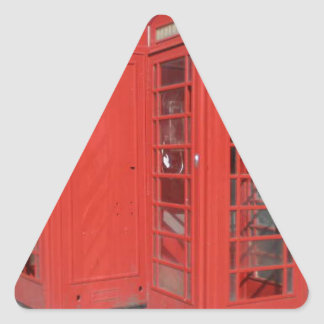 London Phone Booth Products Triangle Sticker