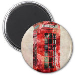 London Phone Box 2 Inch Round Magnet