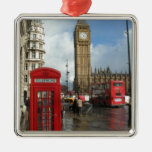 London Phone box & Big Ben (St.K) Metal Ornament