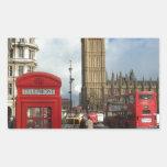 London Phone box & Big Ben (St.K) Rectangular Sticker