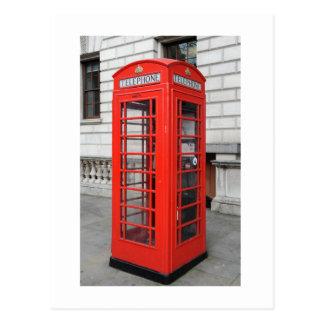 London Phone Box Postcard