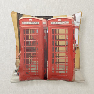 London Phone Boxes Throw Pillow