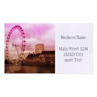 london,pink business card