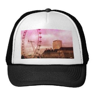 london,pink effect trucker hat