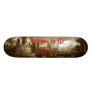 London post apocalypse skateboard deck