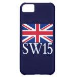 London Postcode SW15 with Union Jack iPhone 5C Cases