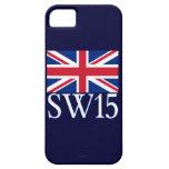 London Postcode SW15 with Union Jack iPhone 5 Case