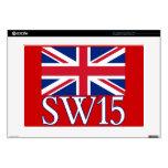 London Postcode SW15 with Union Jack Laptop Skin