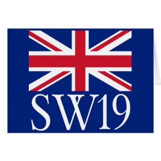 London Postcode SW19 with Union Jack Card