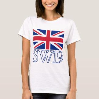 London Postcode SW19 with Union Jack T-Shirt