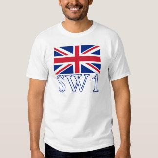 London Postcode SW1 with Union Jack T-Shirt