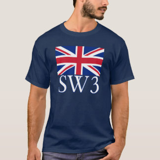 London Postcode SW3 with Union Jack T-Shirt