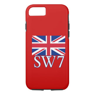 London Postcode SW7 with Union Jack iPhone 7 Case
