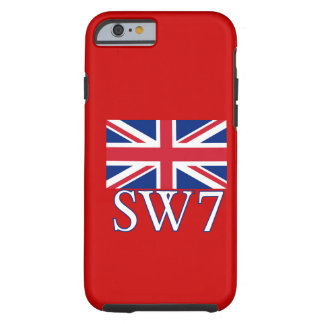 London Postcode SW7 with Union Jack iPhone 6 Case