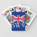London Postcode SW9 with Union Jack Bicycle Playing Cards