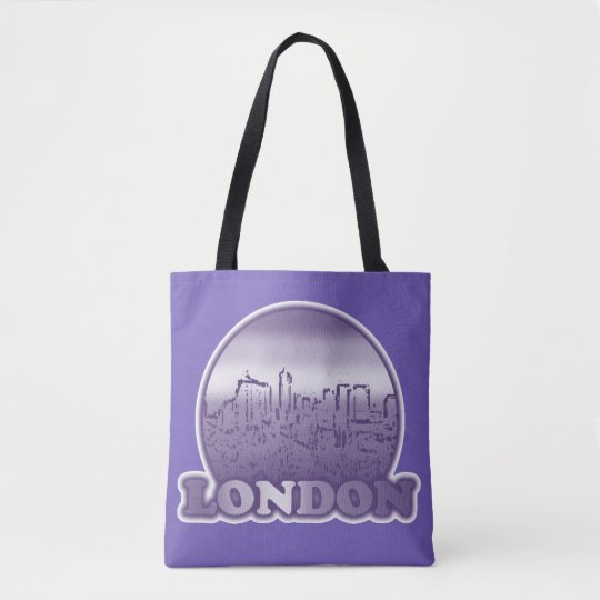 London Purple Sun Tote Bag