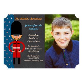London Queen Guard Birthday Party invitation