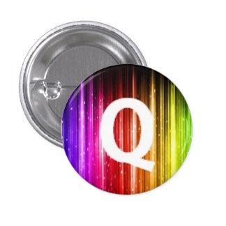 London Queers mini badge Q Pinback Button