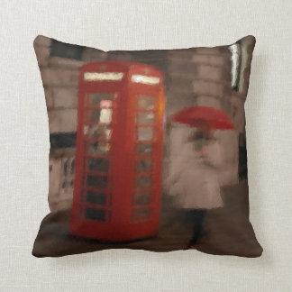 London Rainy Day Phone Box / Umbrella Pillow