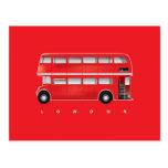 London red bus - double decker postcards