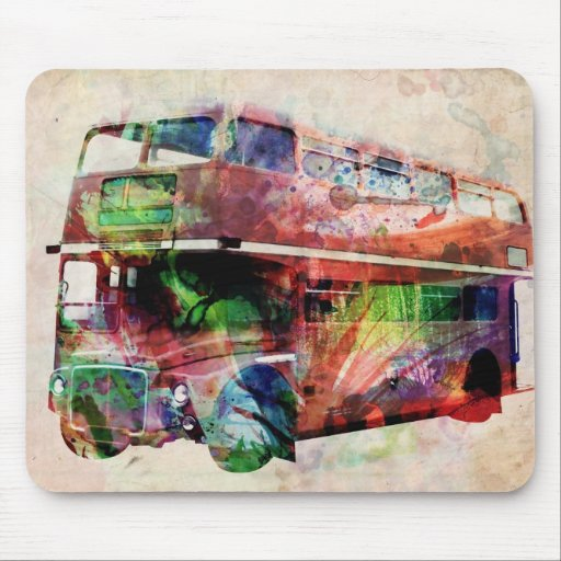 London Red Bus Mouse Pads