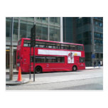 London Red Bus Post Card
