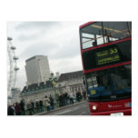 London Red Bus Postcard