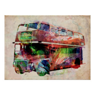 London Red Bus Print