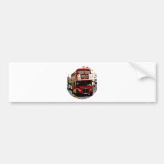 London Red Bus Routemaster Buses Car Bumper Sticker