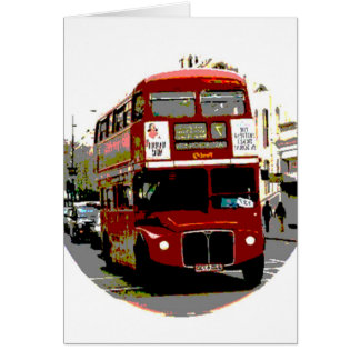 London Red Bus Routemaster Buses Greeting Card