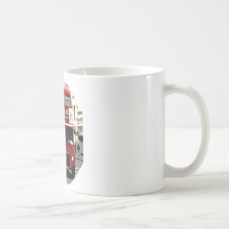 London Red Bus Routemaster Buses Classic White Coffee Mug